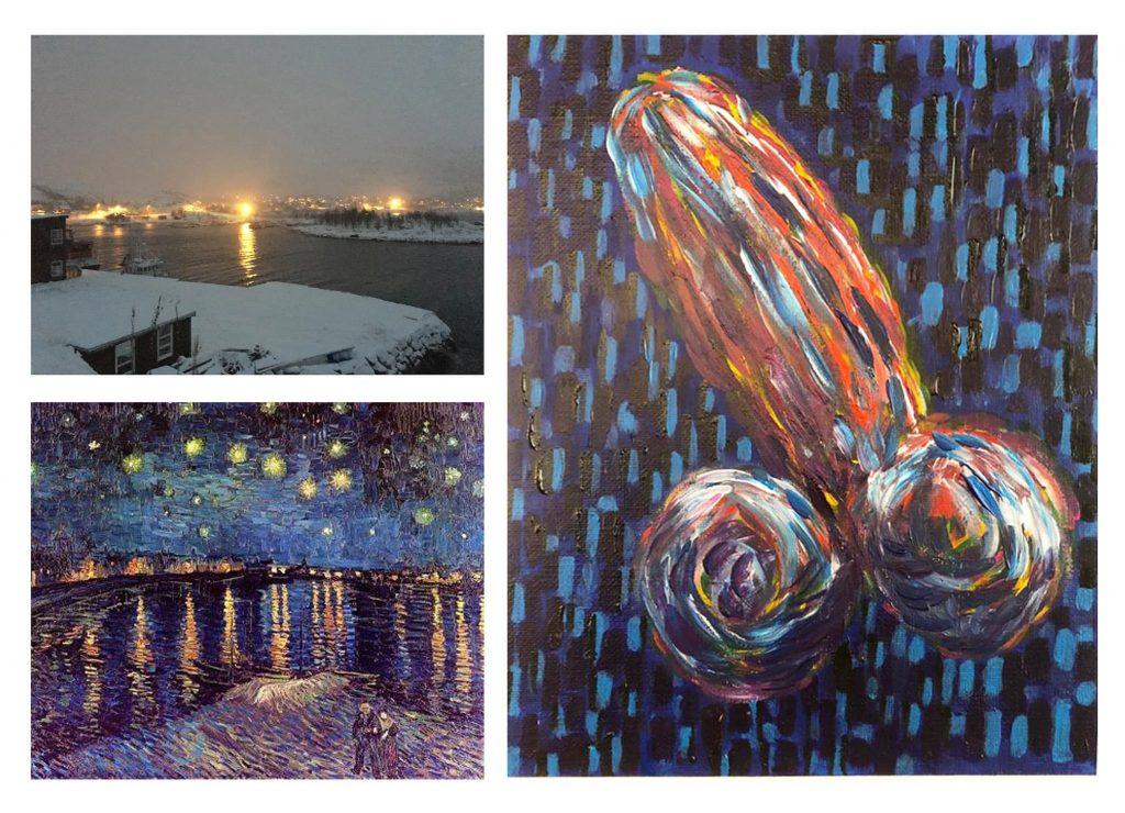 Van Gogh inspiration - Stiffy Art